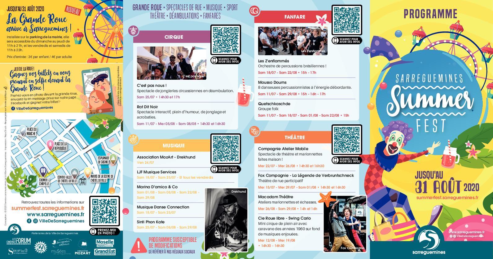 Sarreguemines Summer Fest 2020 - Programme