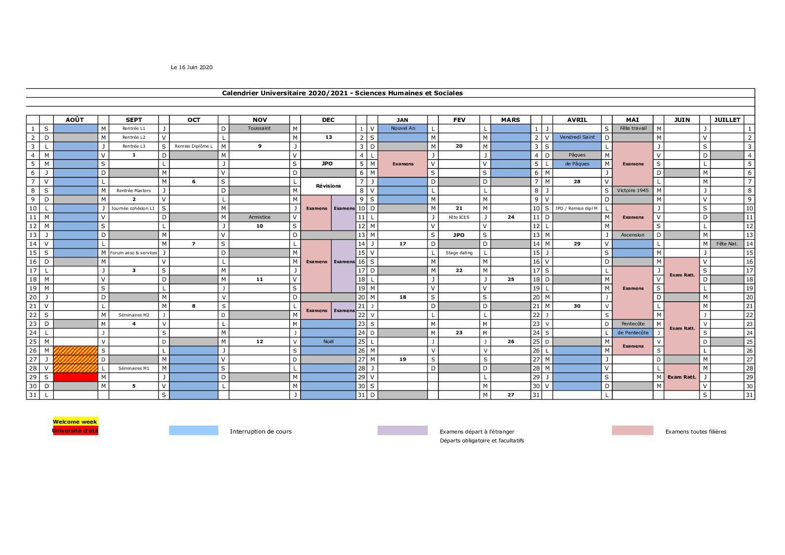 Calendrier Universitaire La Rochelle 2022 2023 Calendrier Universitaire