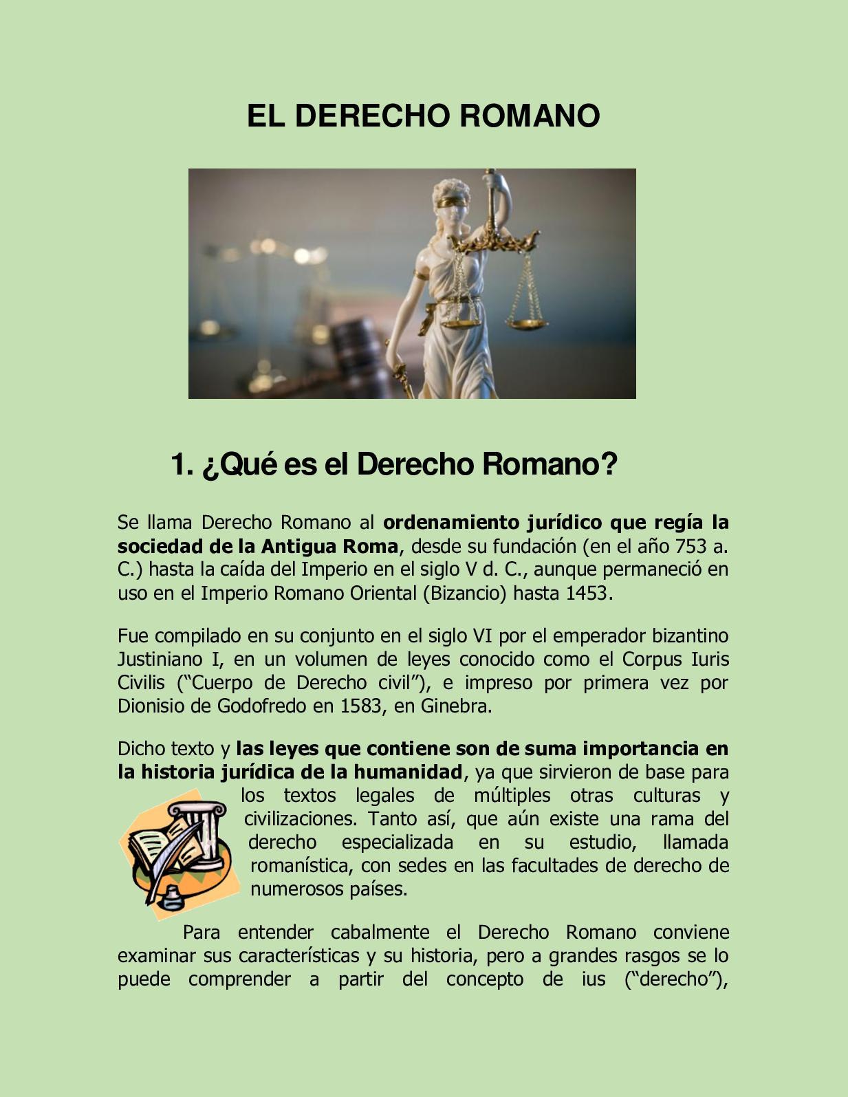 Calaméo El Derecho Romano