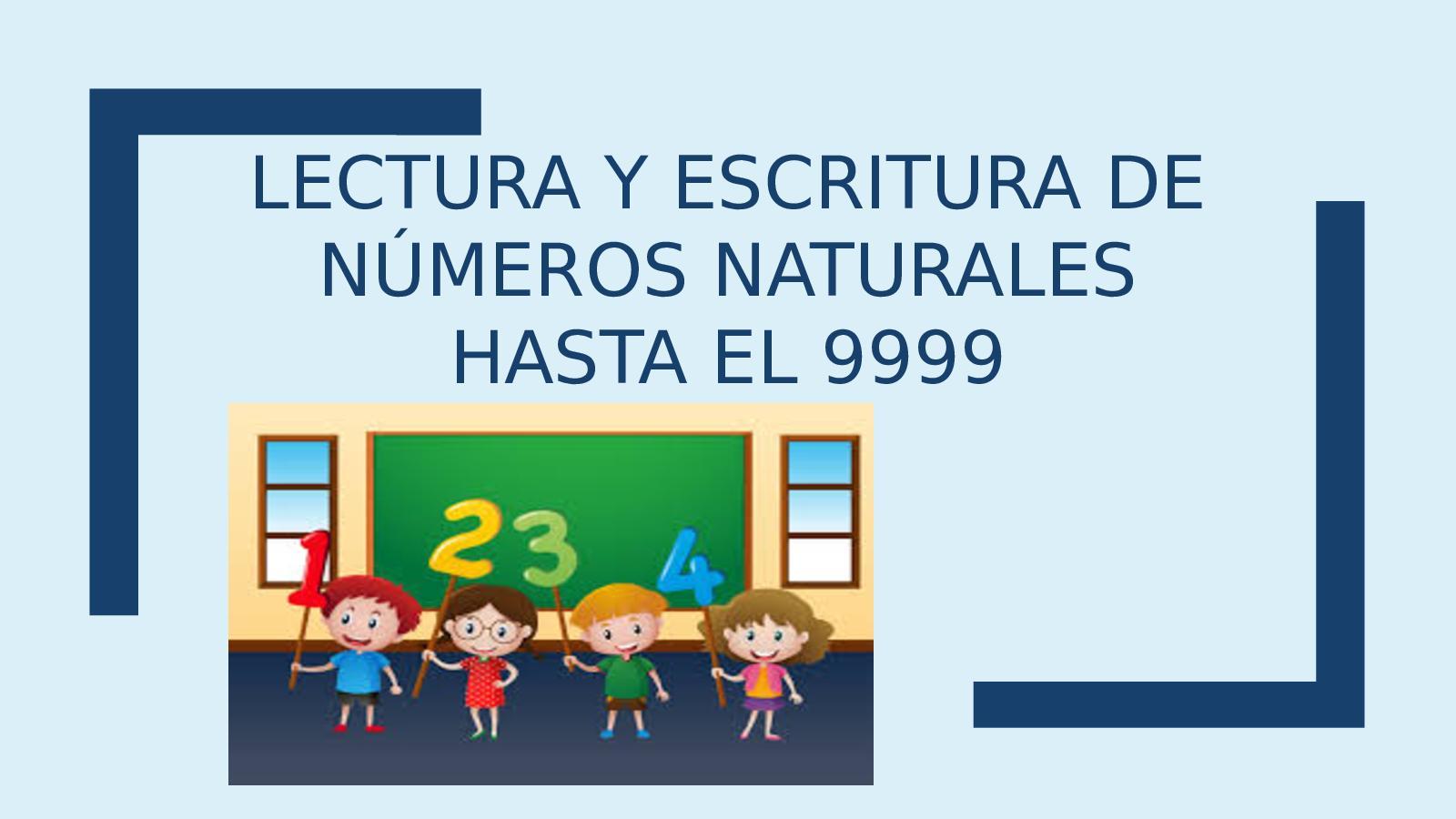 Calaméo Lectura Y Escritura De Números Naturales Hasta El 9999
