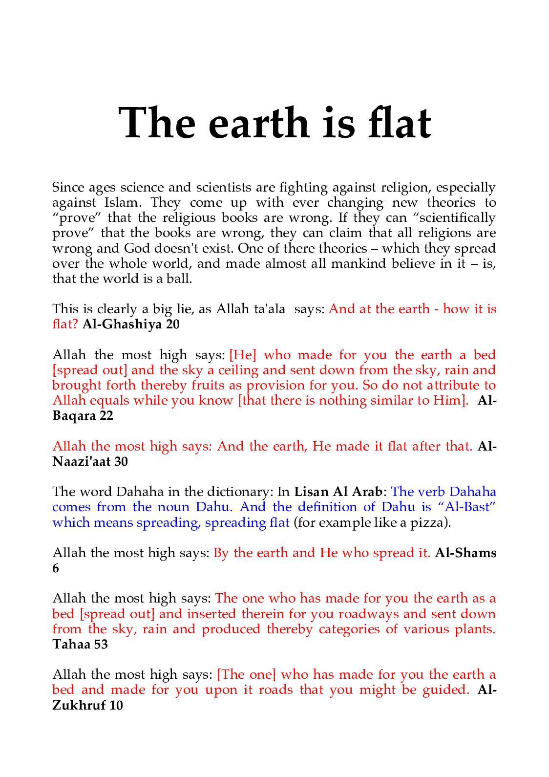Calameo The Earth Is Flat