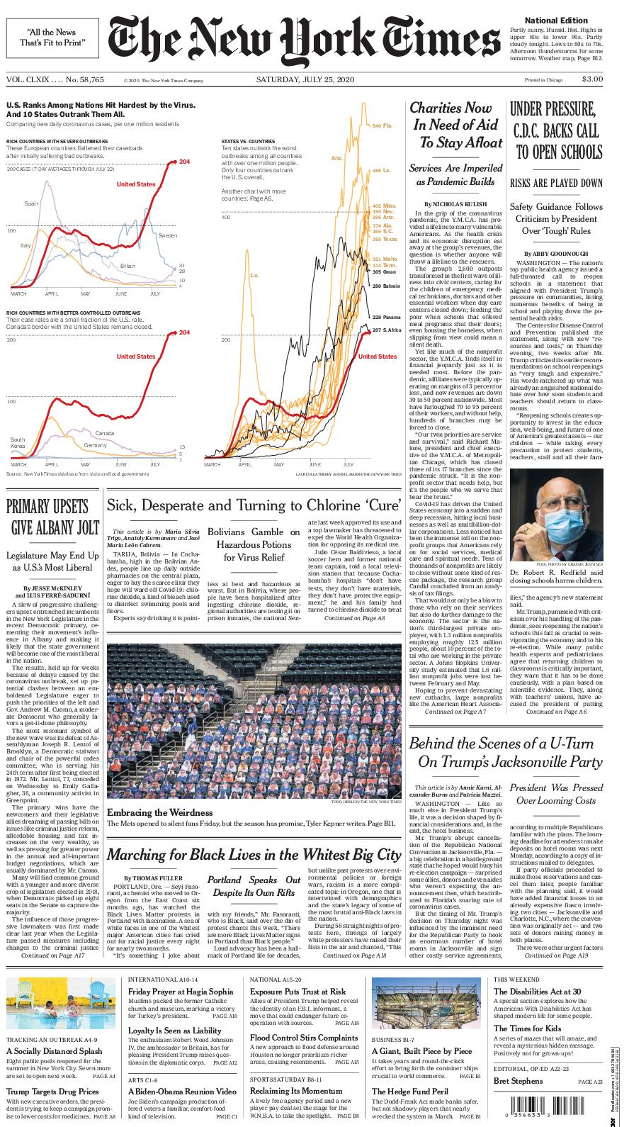 Calameo The New York Times 25 July 2020