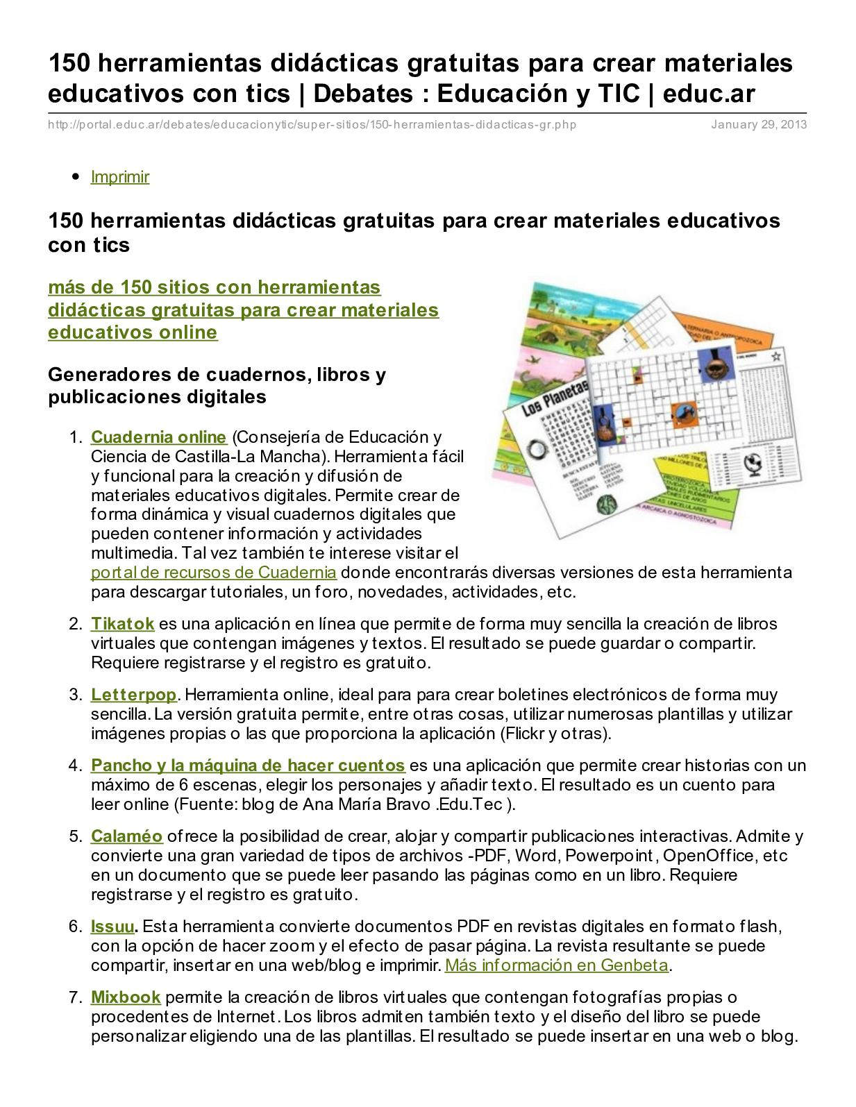 Calaméo Herramientas Tecnologicas1