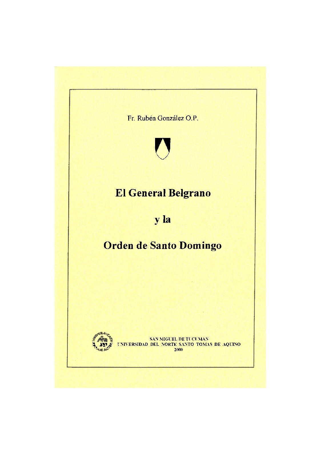 Calaméo - El General Belgrano Y La Orden De Santo Domingo, Fr Rubén Gozález  Op