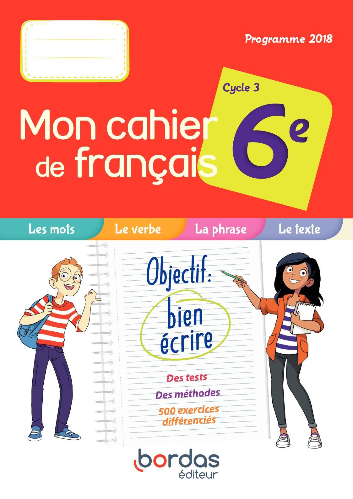 Calameo Mon Cahier De Francais 6e