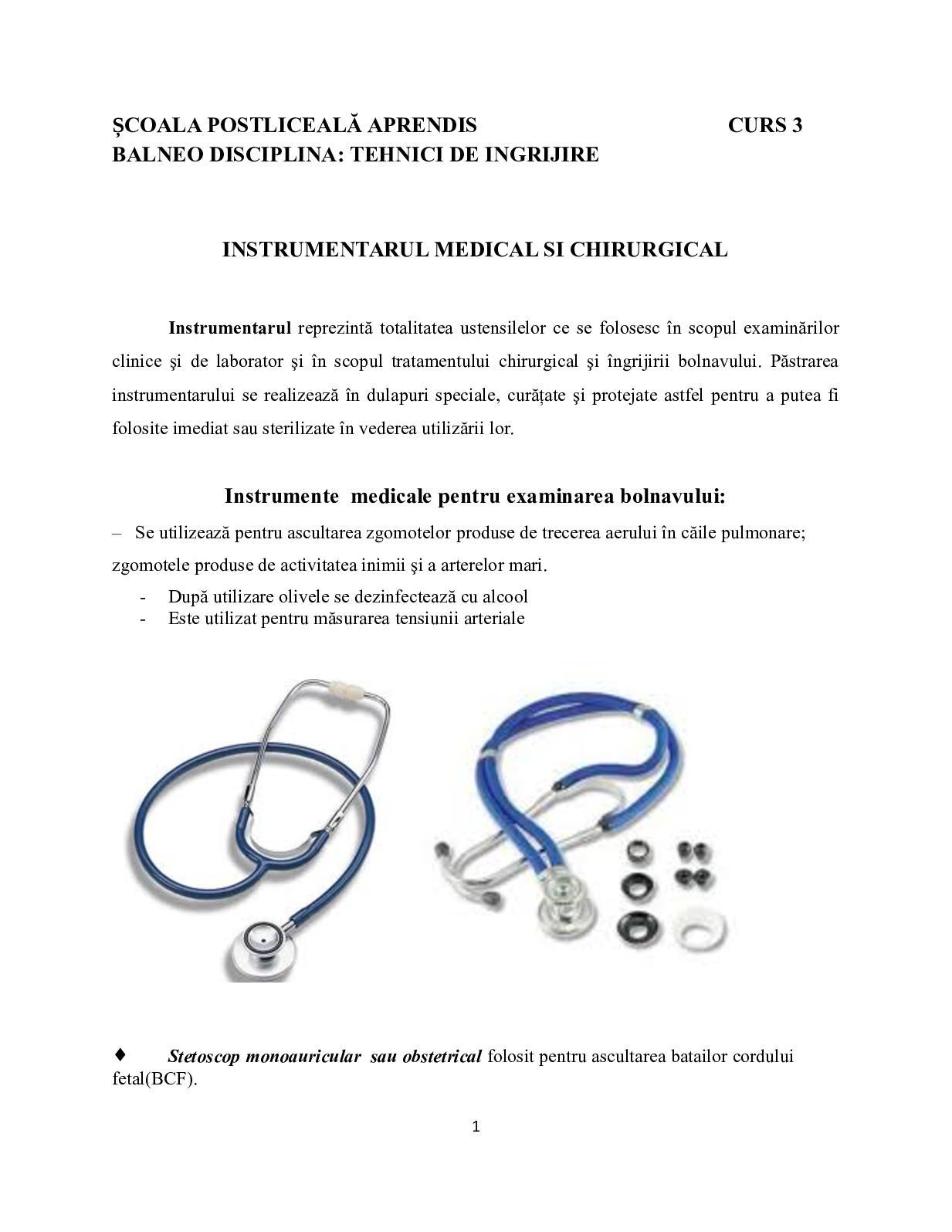 instrumente chirurgicale în oftalmologie
