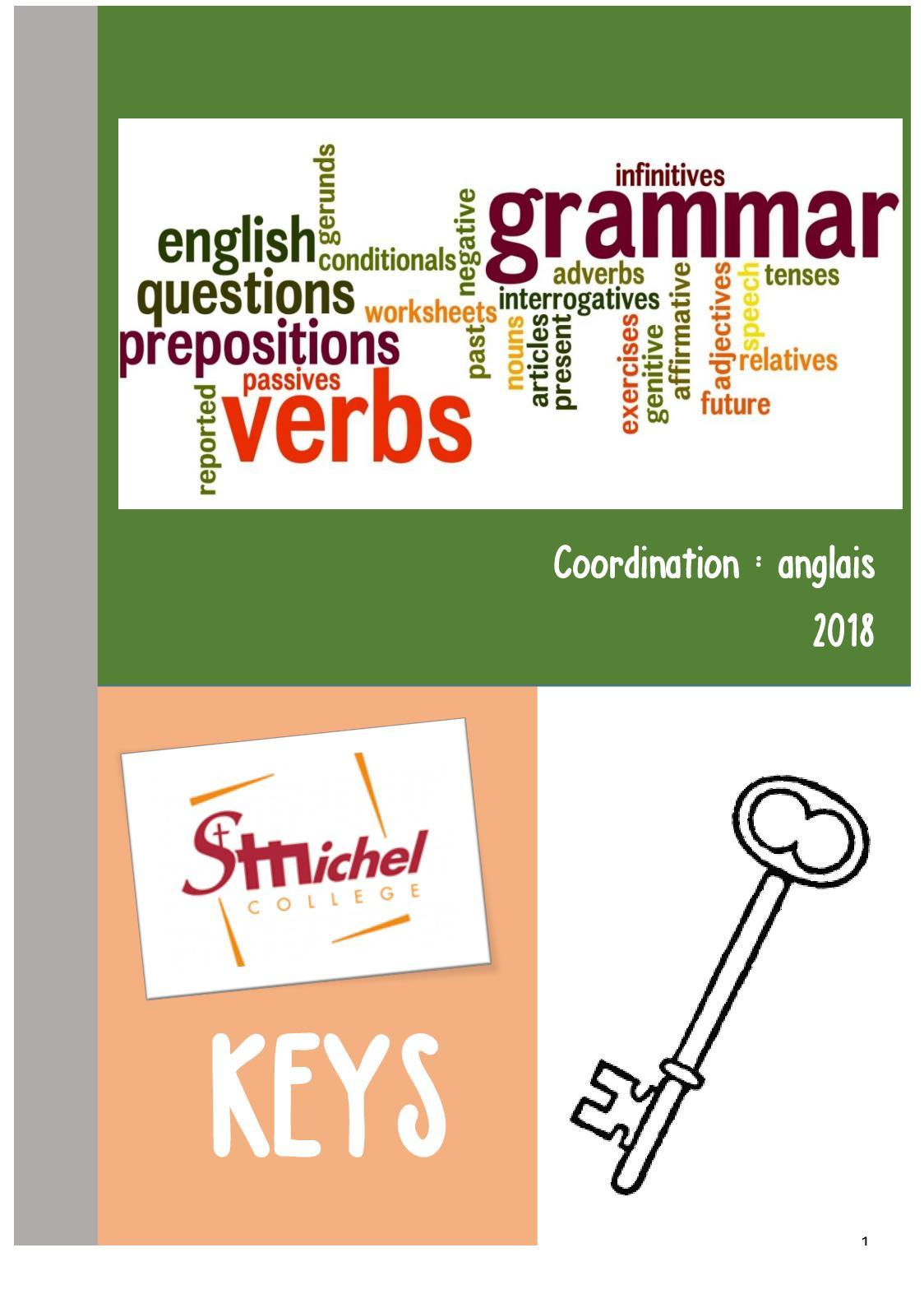 Calameo Syllabus De Grammaire Keys 2018