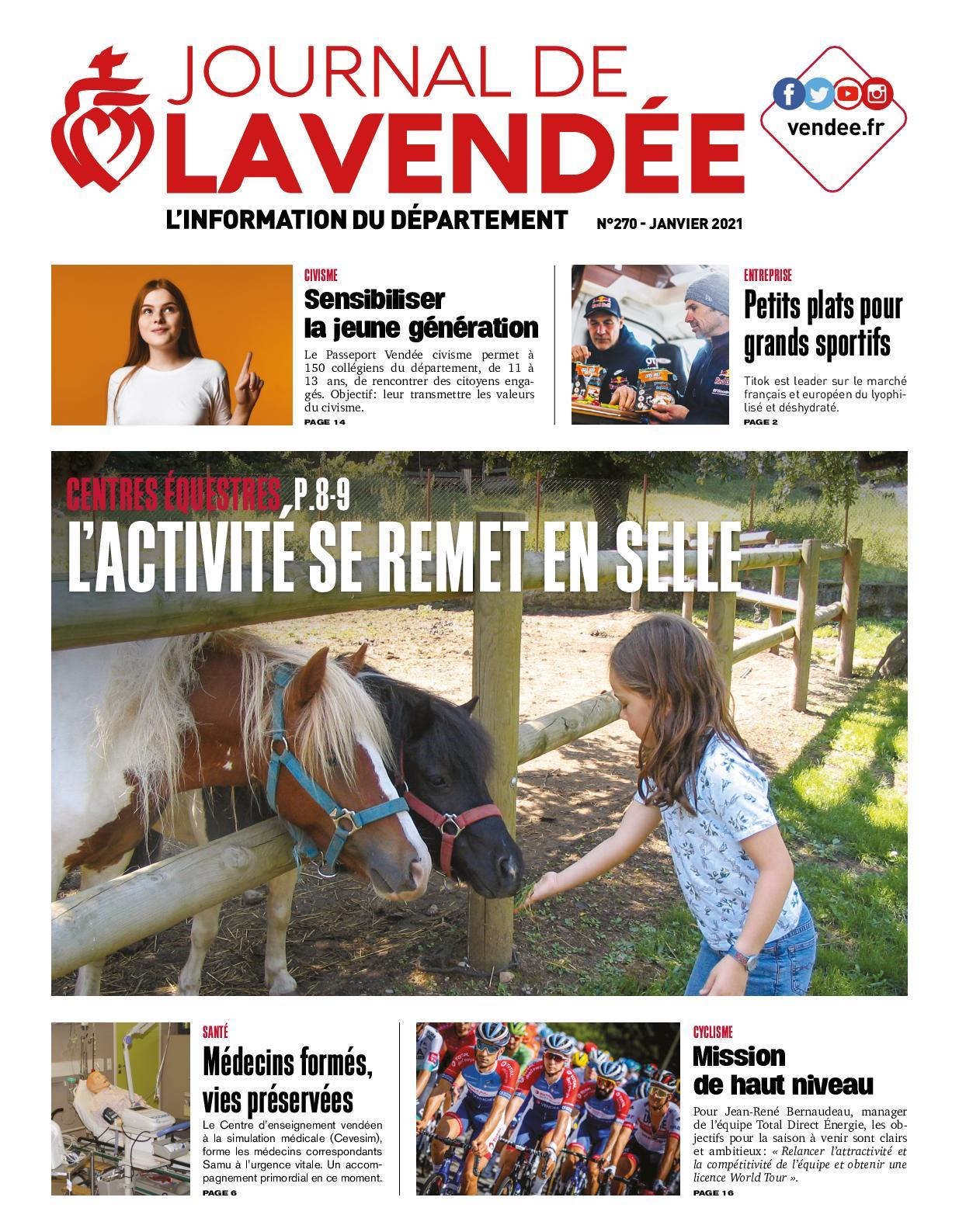 Calaméo - Journal de la Vendée n° 270 - Janvier 2021