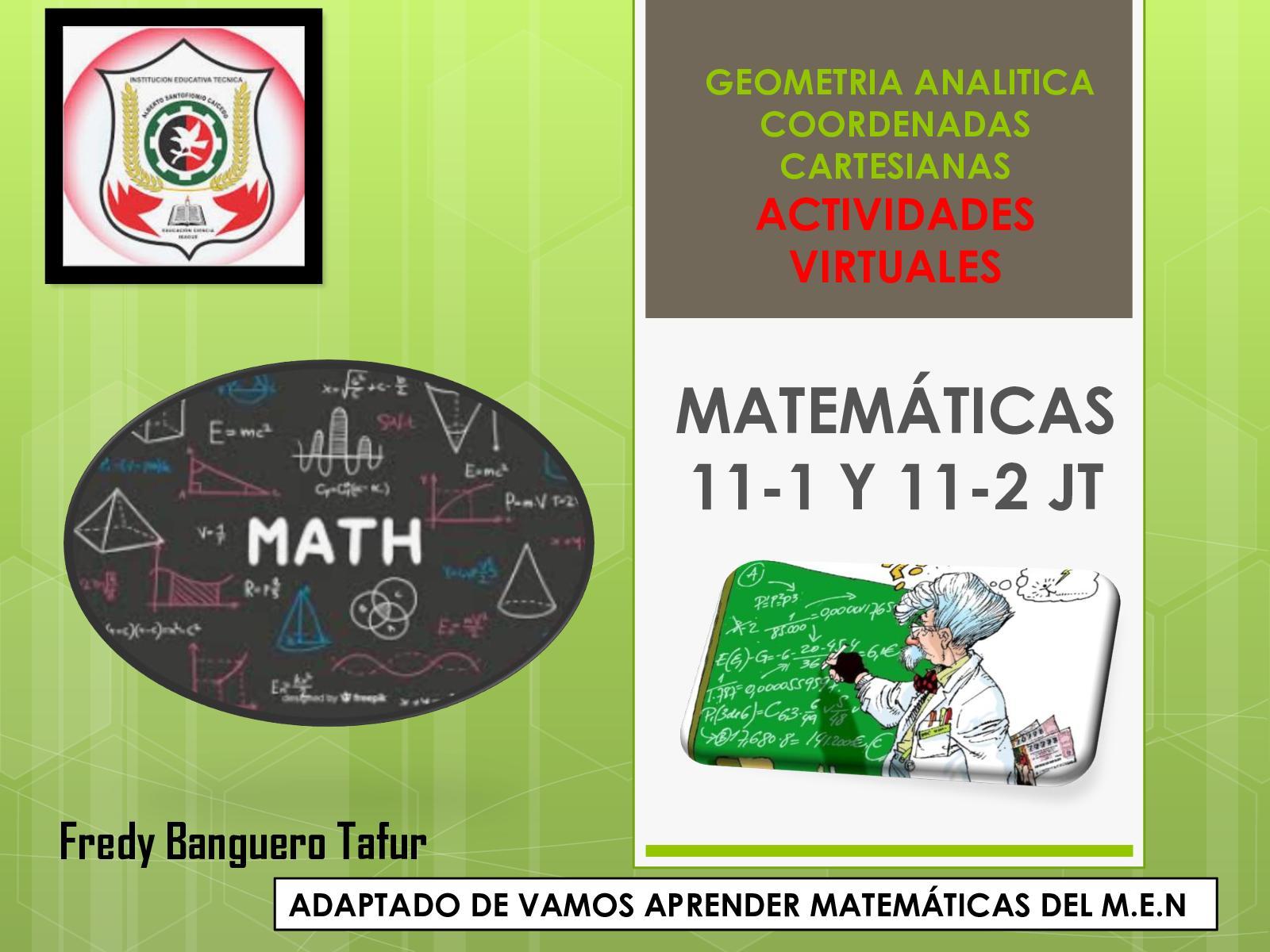S1 Geometría Analítica I Coordenadas Cartesianas