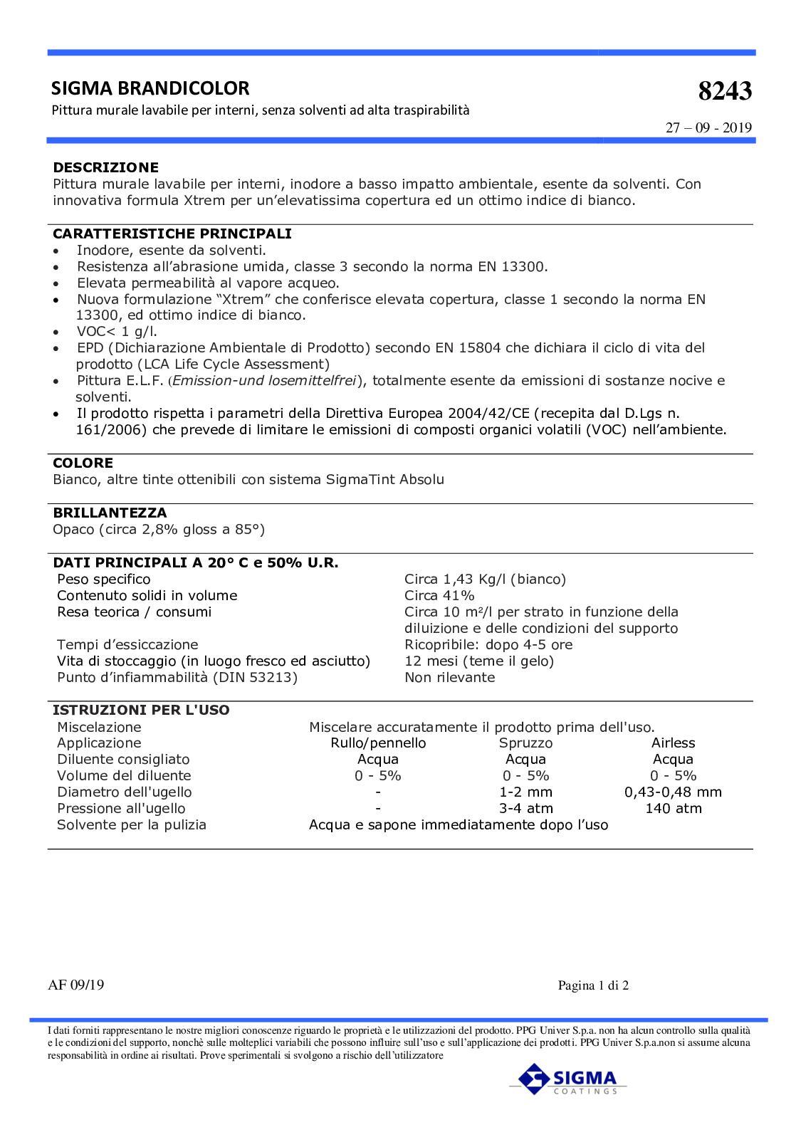 Calameo Scheda Tecnica Sigma Brandicolor