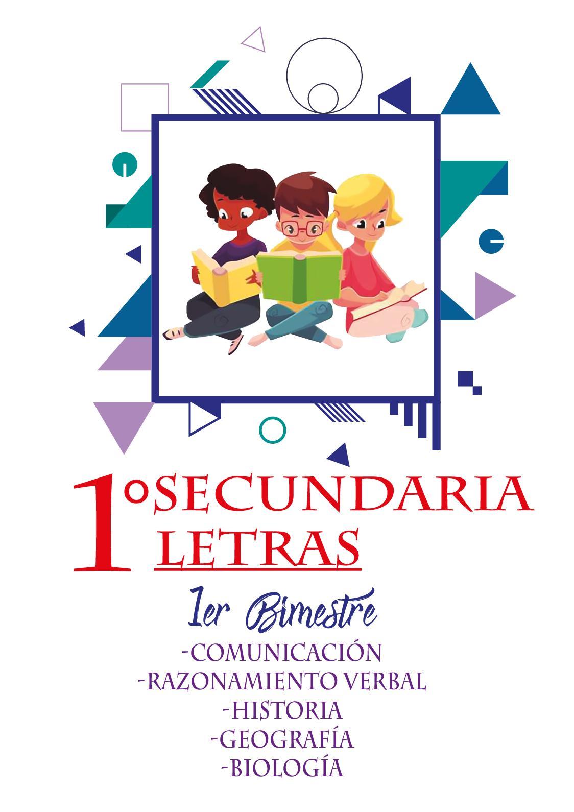 1ro Secundaria Letras 01 Bimestre