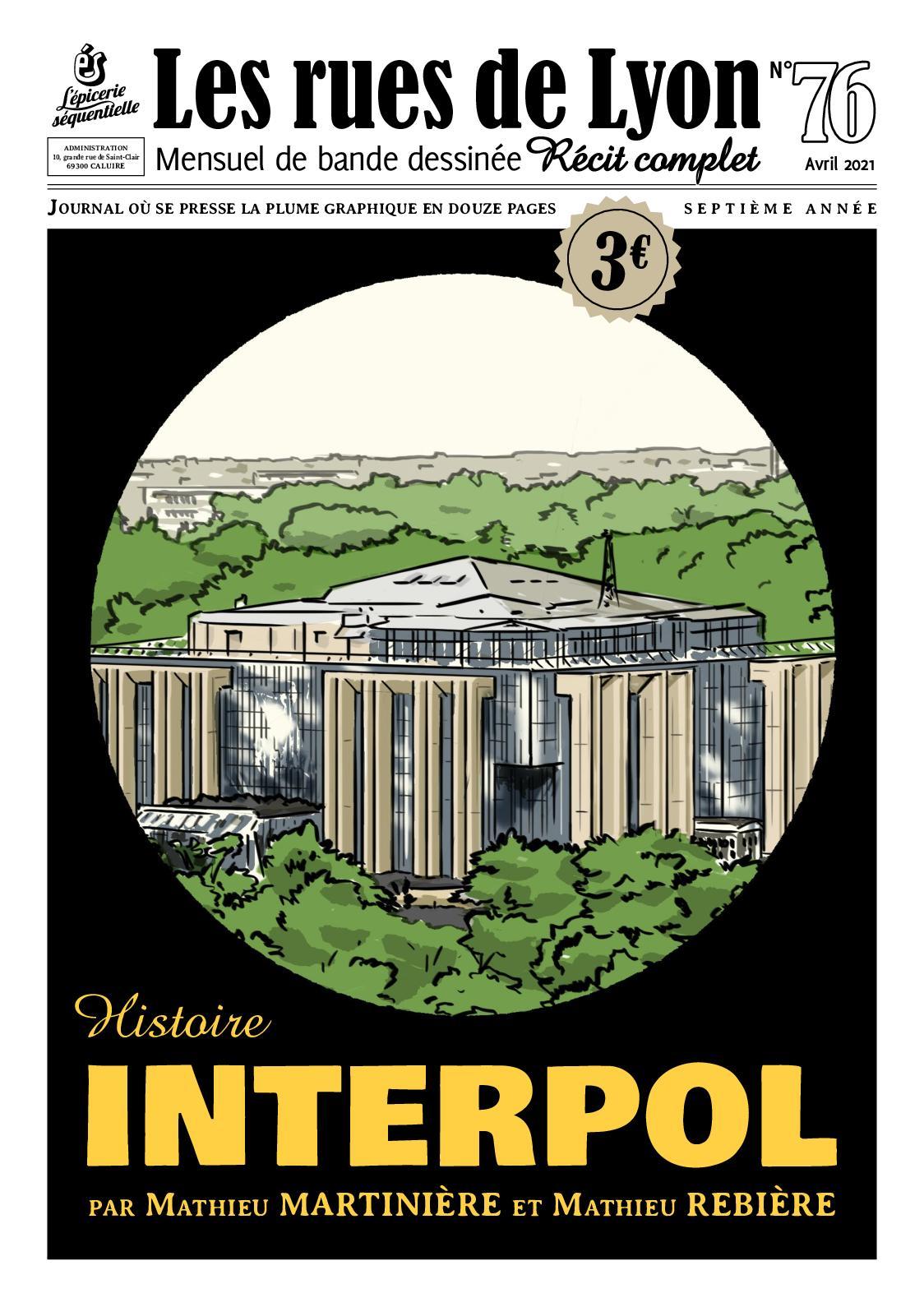 Les Rues de Lyon N°76 Interpol