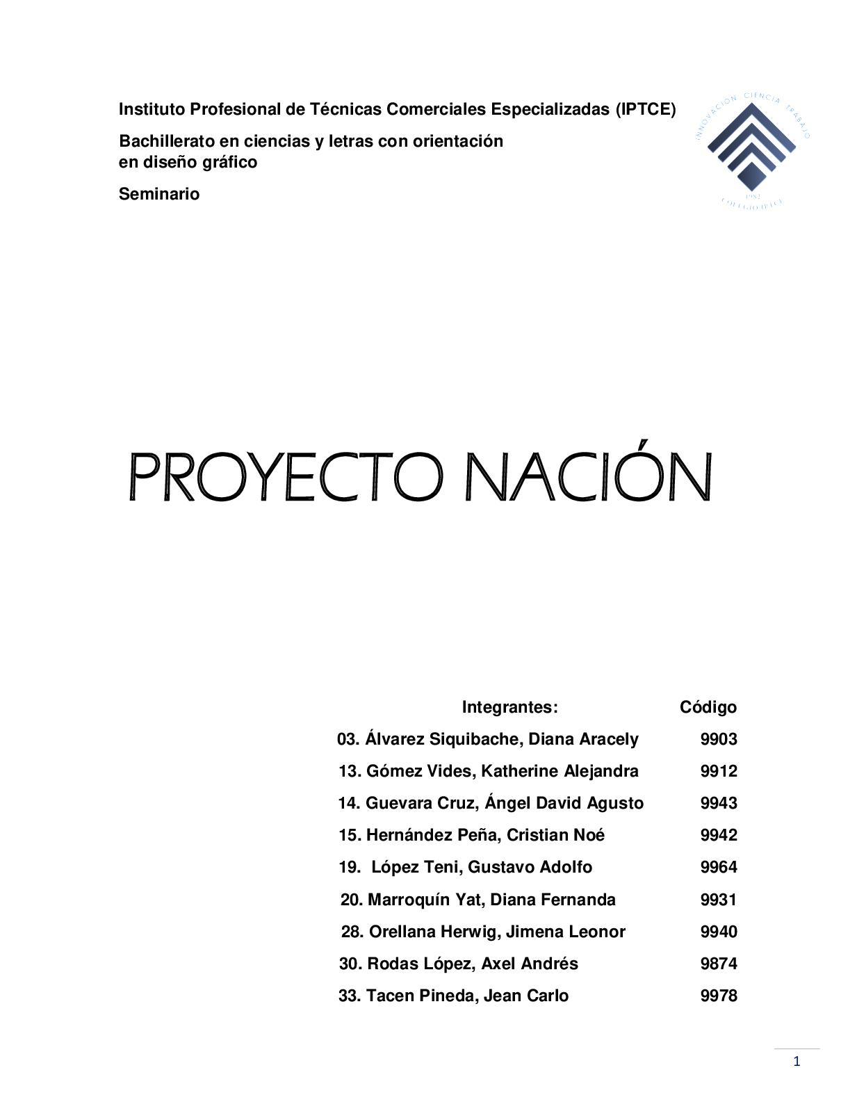 Proyecto Nación