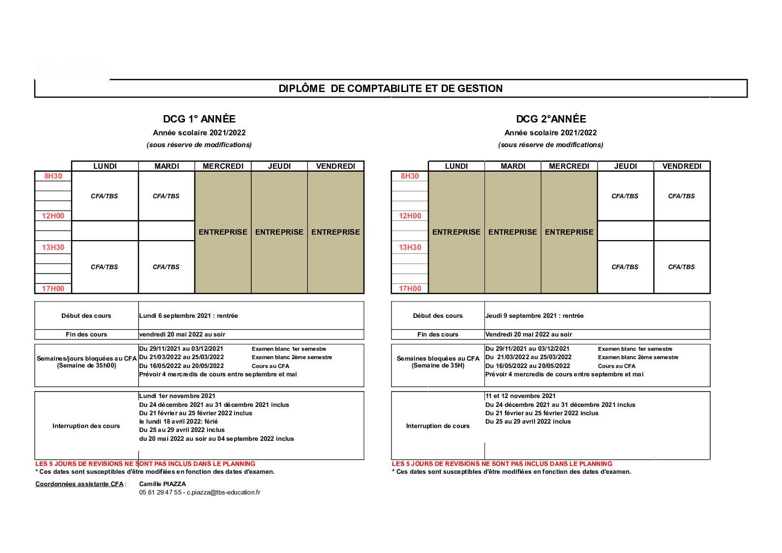 Calendrier Dcg 2022 Calaméo   Dcg Planning Général 2021 2022