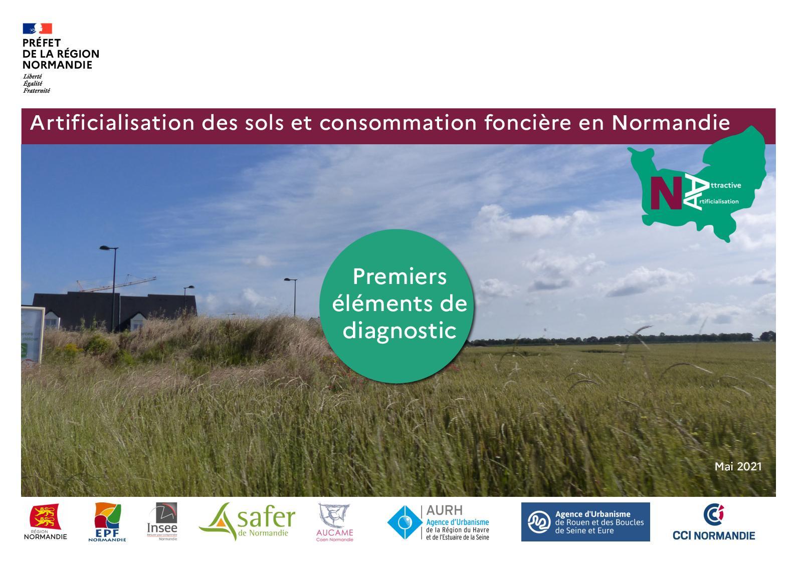 Artificialisation et consommation foncière en Normandie - Premiers éléments de diagnostic