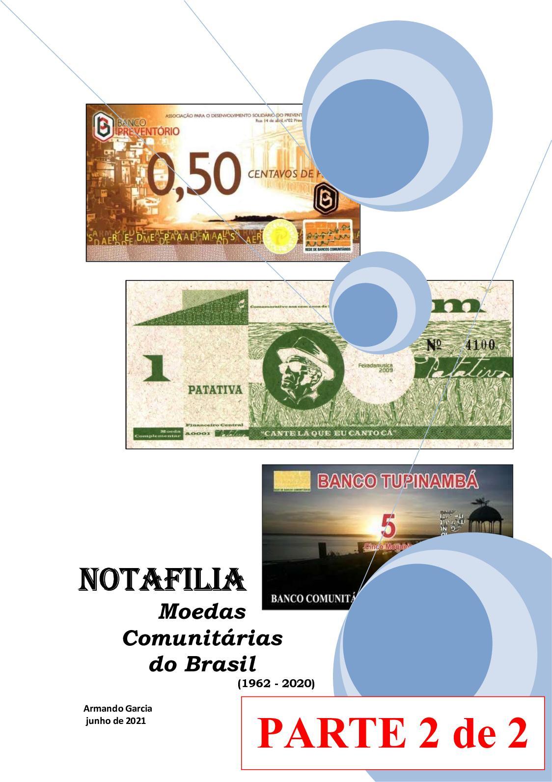 Notafilia - Moedas Comunitárias Do Brasil 1962-2020 - Parte 2 Pág 480-954